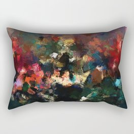 Emotional Abstract Artwork with Dark Colors Rectangular Pillow