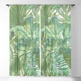 green tropic Sheer Curtain