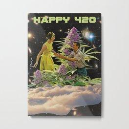 Happy 420 Dance Metal Print