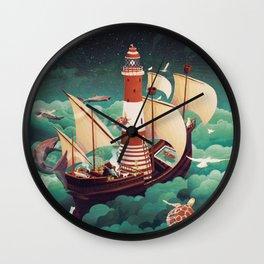 Light of freedom Wall Clock
