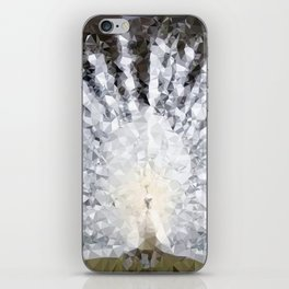 White Peacock Low Poly Geometric Triangles iPhone Skin