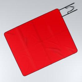 Bright Fluorescent Neon Red Fireball Picnic Blanket