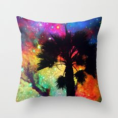 Space Cali Throw Pillow