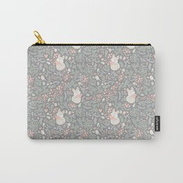 Sleeping Fox - grey pattern design Carry-All Pouch
