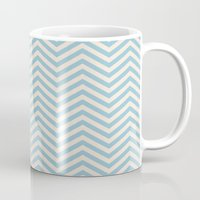 chevron Mugs featuring Chevron by Patterns and Textures