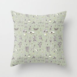 Witchcraft Pattern Throw Pillow