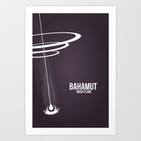 final fantasy Art Prints featuring Final Fantasy X - Bahamut by booj