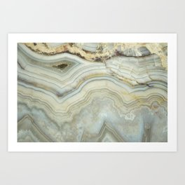 White Agate Art Print