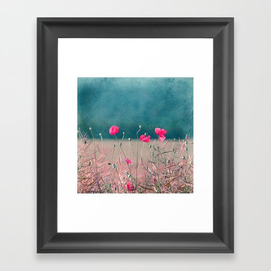 pink poppy Framed Art Print