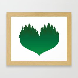 Heart of the Forest Framed Art Print
