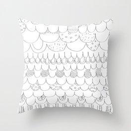 squama texture Throw Pillow