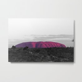 The Red Center Metal Print