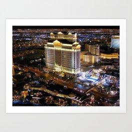 Las Vegas Nightscape Art Print