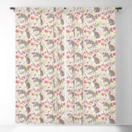 Bunny Meadow Pattern Blackout Curtain