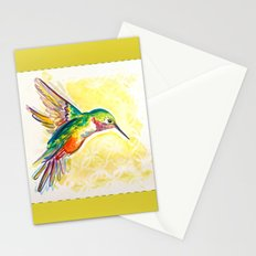 Gold Jewel Box Hummingbird Stationery Cards