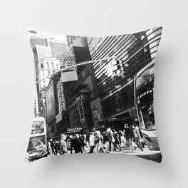 On the Street in NYC Throw Pillow