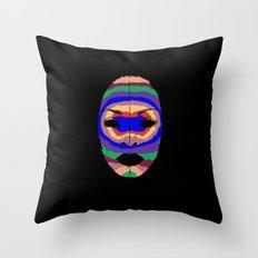 Badu mask Throw Pillow