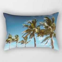 palm tree in miami Rectangular Pillow