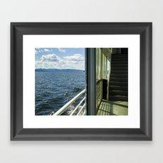 Burlington, Vermont Boat Ride.  Framed Art Print