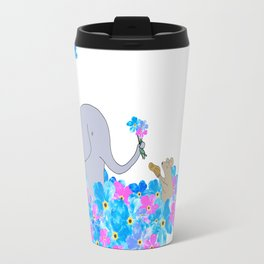 Friends In The Forget-me-nots Travel Mug