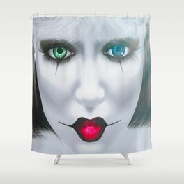Harlequin Eyes Of A Different Color Shower Curtain