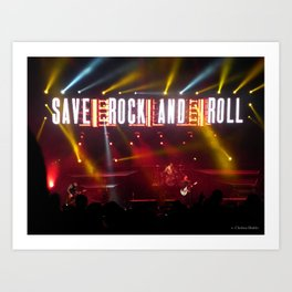 Save Rock and Roll Art Print