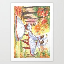 Painting by Niladri Roy for OSA NY/NJ Chapter 2017 Kumar Purnima Art Print