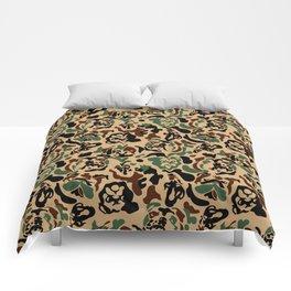 English Bulldog Camouflage Comforters
