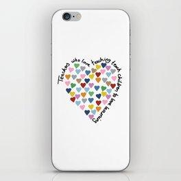 Hearts Heart Teacher iPhone Skin