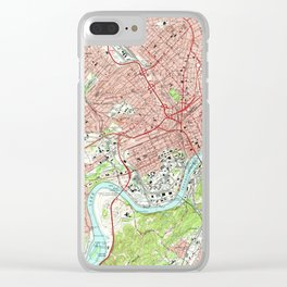 Vintage Map of Knoxville Tennessee (1966) Clear iPhone Case