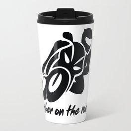 Biker on the road 1 Travel Mug