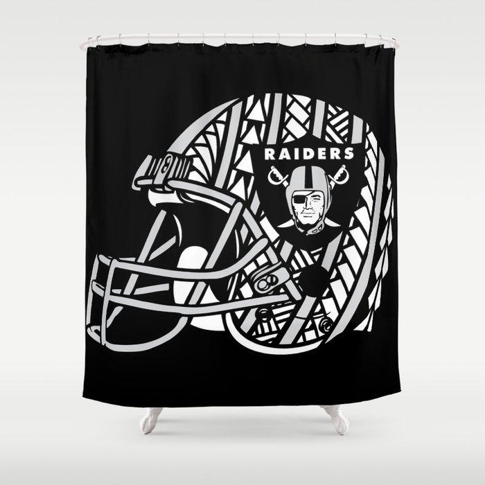 Polynesian Style Raiders Shower Curtain