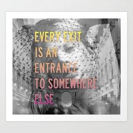 Exit // Entrance Art Print