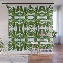 Palm Tree Kaleidoscope (on white) #1 Wall Mural
