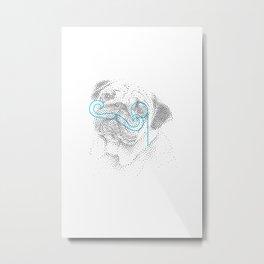 Classy pug Metal Print