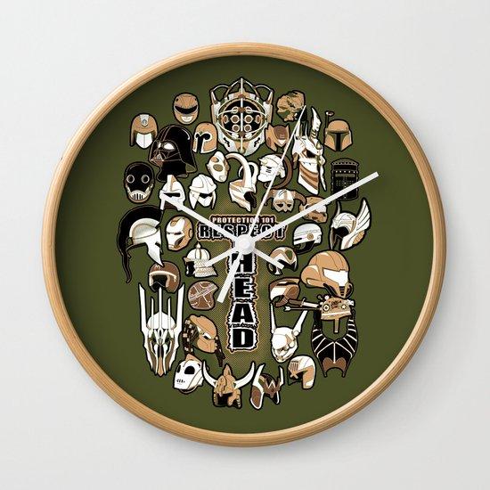 Helmets of fandom - respect the head! Wall Clock
