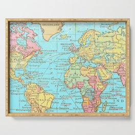 Map of the World Serving Tray