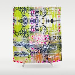 Find Beauty Shower Curtain