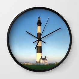 Outer Banks, NC, Bodie Island Lighthouse, Summer Sunset 2015 - OBX  Wall Clock
