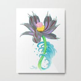 Pink Diamond Mech Lotus Metal Print