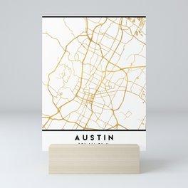 AUSTIN TEXAS CITY STREET MAP ART Mini Art Print