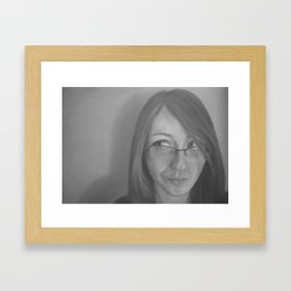 Zara Portrait Framed Art Print