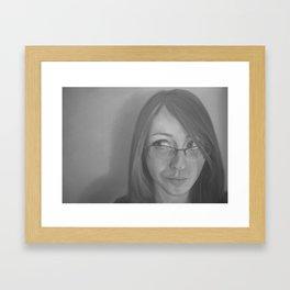 Zara Portrait Framed Art Print
