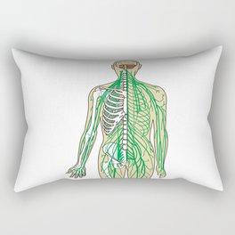 Human neural pathways Rectangular Pillow