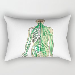 Human neural pathways Rectangular Pillow