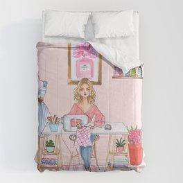 Sewing Room Blonde Comforters