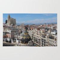madrid Area & Throw Rugs featuring Madrid Espana by Eduardo Doreni