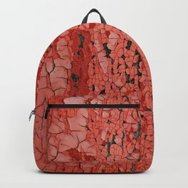 Red Chipped Paint Backpack