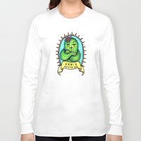 sassy Long Sleeve T-shirts featuring Sassy Cactus by LittleWillowArt