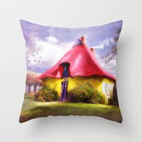 once upon a  time Throw Pillows featuring Once upon a time by VIAINA